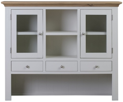 Sandringham Hutch - Oak and White Painted