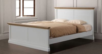 Sandringham Bed - Oak and White Painted