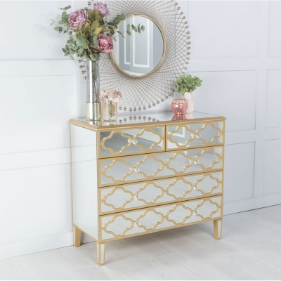 Urban Deco Casablanca Mirrored 4 Drawer Chest