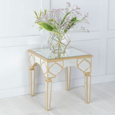Urban Deco Casablanca Mirrored Side Table