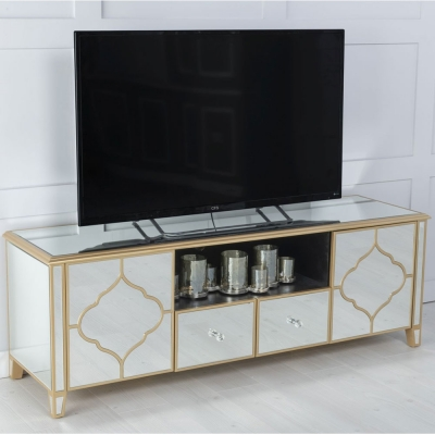 Urban Deco Casablanca Mirrored TV Unit