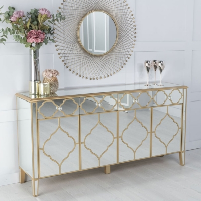 Urban Deco Casablanca Mirrored Large Sideboard