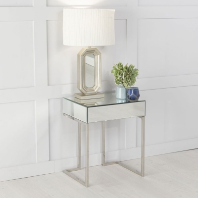 Urban Deco Fenwick Mirrored Side Table