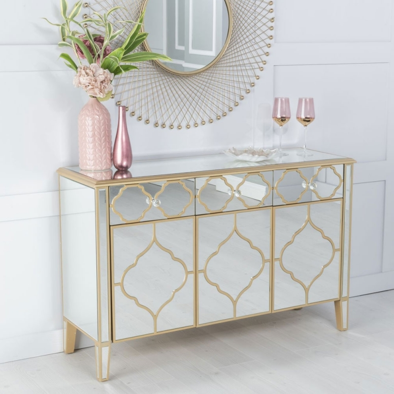 Urban Deco Casablanca Mirrored Sideboard