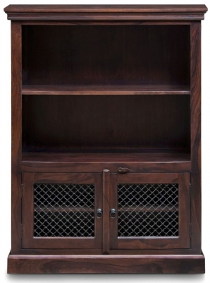 Iron Jali Sheesham Medium Bookcase