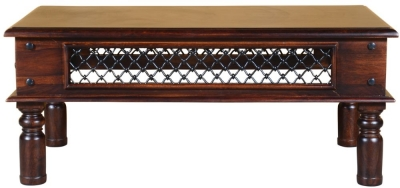 Iron Jali Sheesham Coffee Table