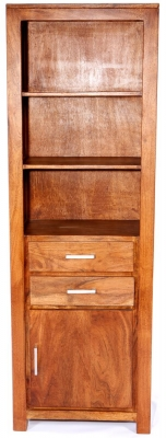 Java Acacia 1 Door 2 Drawer Bookcase