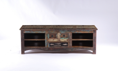 UNIQUE Reclaimed Recycled Shabby Chic 3 Drawers TV Unit