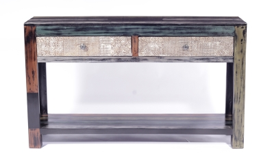 URBAN Vintage Shabby Chic 2 Drawer Console Table