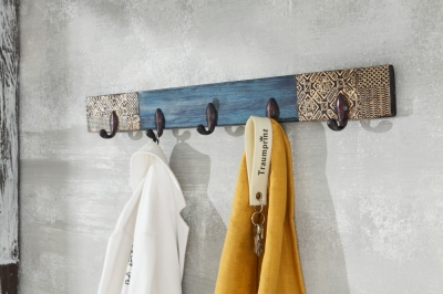 URBAN Vintage Shabby Chic 5 Hook Coat Rack