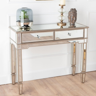 Urban Deco Antoinette Mirrored Console Table