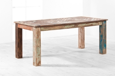 UNIQUE Reclaimed Recycled Shabby Chic Rectangular Dining Table - 180cm