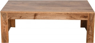 Dakota Indian Mango Wood Plain Coffee Table - Light
