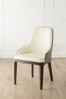 Urban Deco Madrid Beige Faux Leather Dining Chair (Pair)