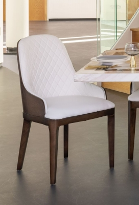 Urban Deco Madrid White Faux Leather Dining Chair (Pair)