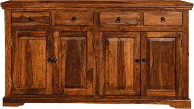 Ganga Indian Sheesham Wood 4 Door Large Sideboard