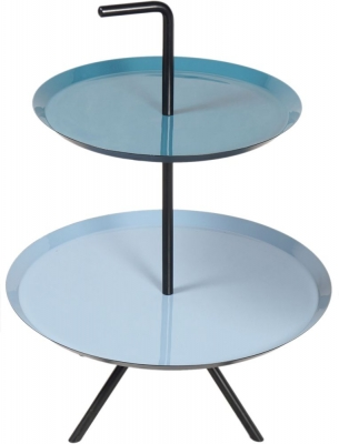 Urban Deco Elena Black Metal and Enamel Painted Nest of Tables