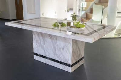 Urban Deco Rome 200cm Cream Marble Dining Table