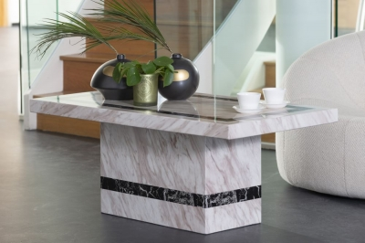 Urban Deco Rome Cream Marble Coffee Table