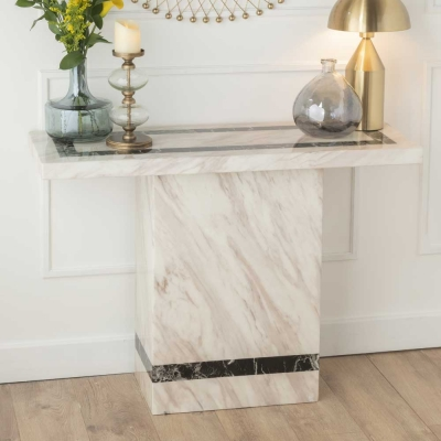 Urban Deco Rome Cream Marble Console Table