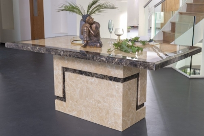 Urban Deco Venice 200cm Cream Marble Dining Table