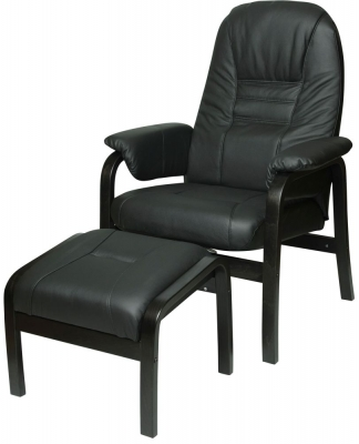 Jack Leather Recliner Chair with Footstool