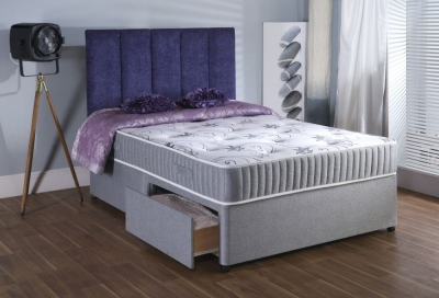 Vogue Backcare Red Star Fabric Divan Bed