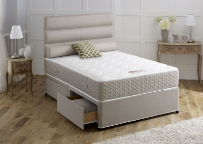 Vogue Amethyst Star 1000 Pocket Spring Fabric Divan Bed with Encapsulation Surround