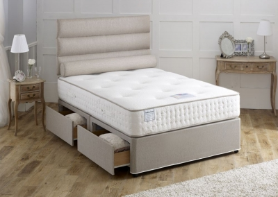 Vogue Talalay Latex Marine Star 1000 Pocket Spring Fabric Divan Bed with Natural Touch