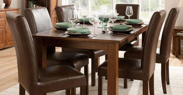Dark Wood Dining Set