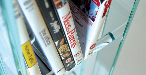 Glass CD DVD Racks