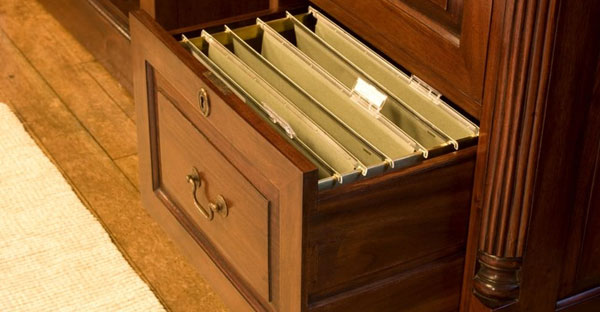 Dark Wood Filing Cabinets
