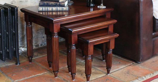 Dark Wood Nest of Table