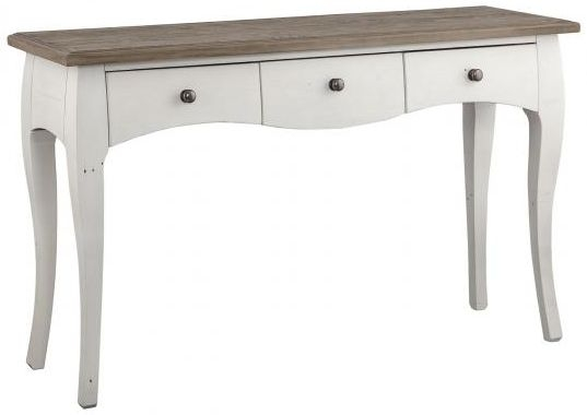 Boggs White Painted 3 Drawer Console Table