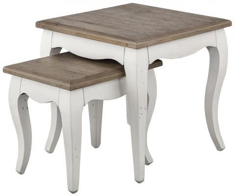Boggs White Painted Nest of Tables