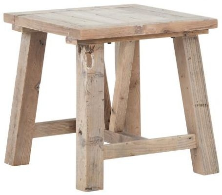Pocono Reclaimed Wood Lamp Table with Slanted Legs