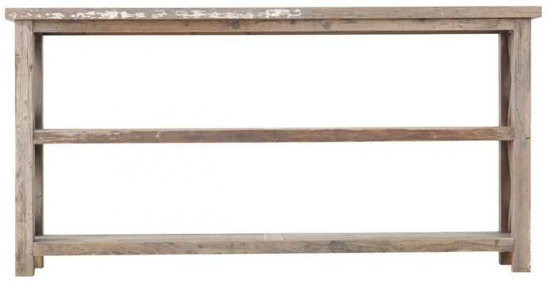 Pocono Reclaimed Wood Console Table with Cross Detailing
