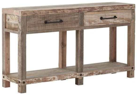 Pocono Reclaimed Wood 2 Drawer Console Table