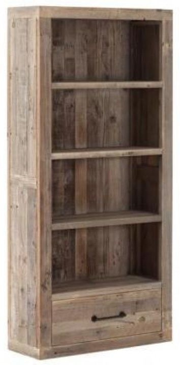 Pocono Reclaimed Wood 1 Drawer Bookcase