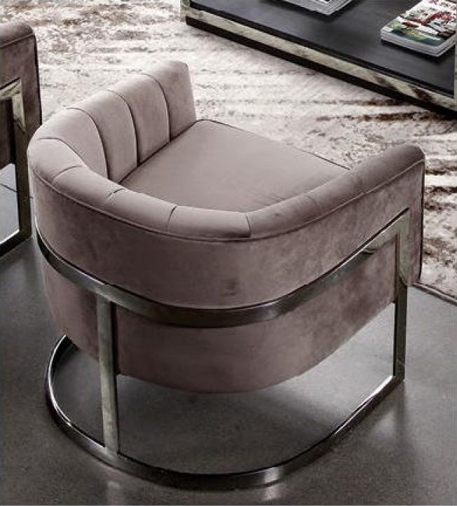 Crafton Pink Fabric Chair
