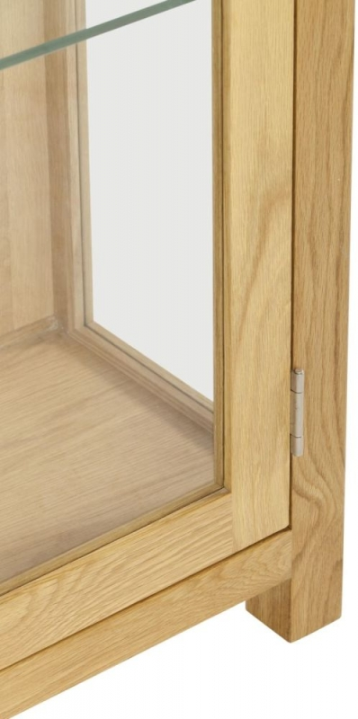 Norton Oak 1 Door Glass Display Cabinet