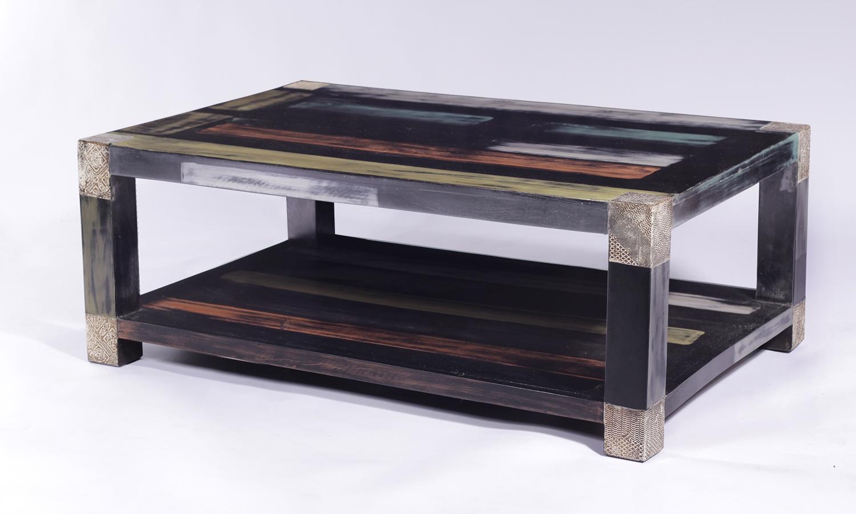 URBAN Vintage Shabby Chic Coffee Table with Shelf