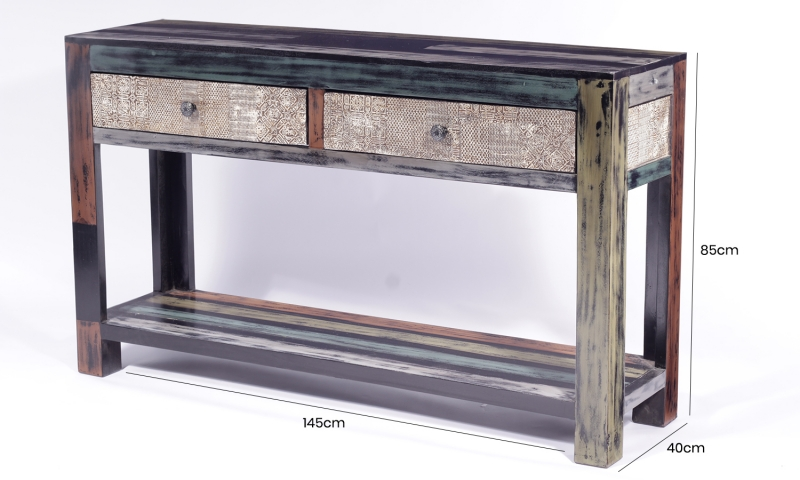 URBAN Vintage Shabby Chic Console Table