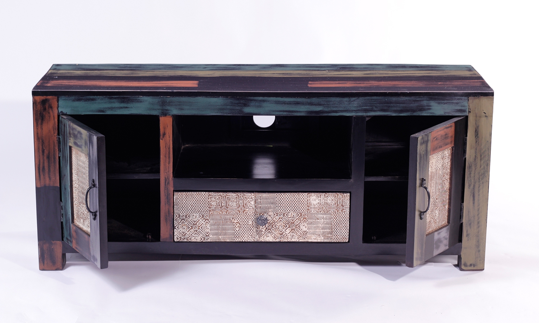 URBAN Vintage Shabby Chic 2 Door 1 Drawer TV Unit