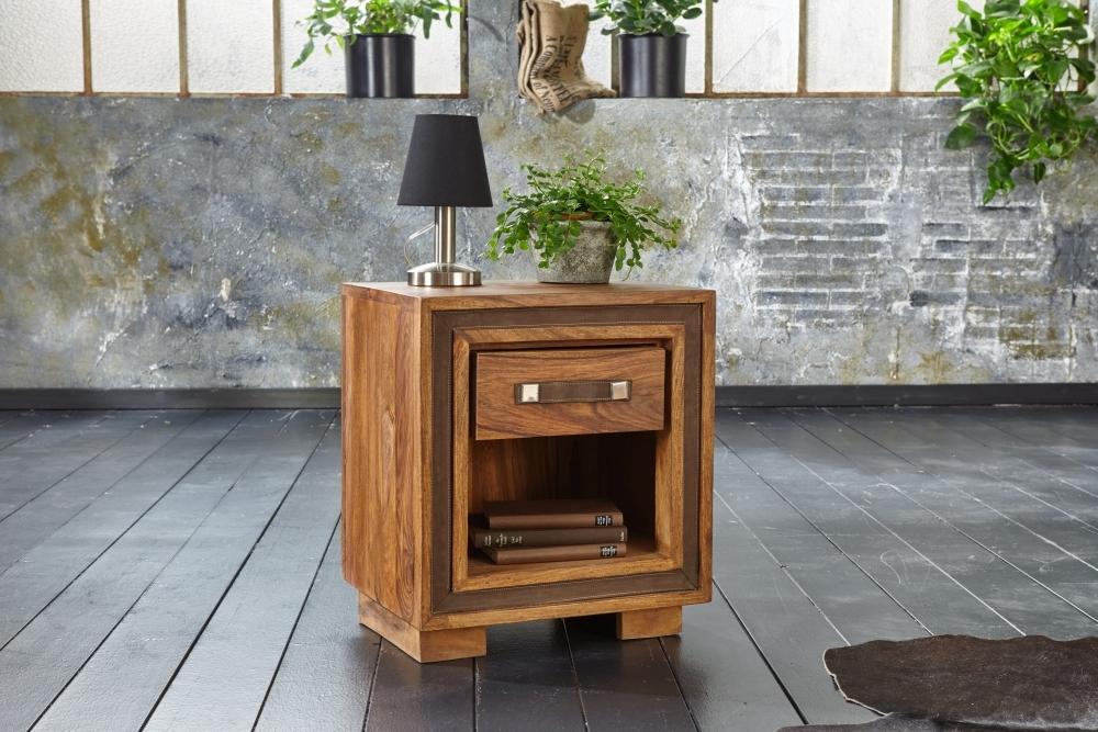 GRANDE Sheesham Wood 1 Drawer Bedside Table