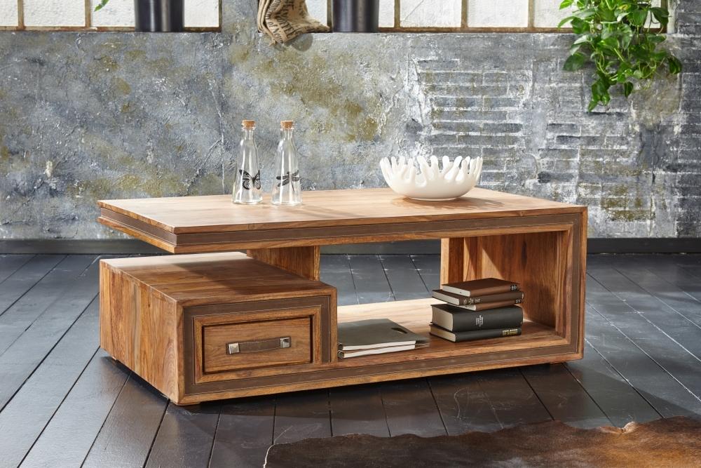 GRANDE Sheesham Wood 1 Drawer Storage Coffee Table