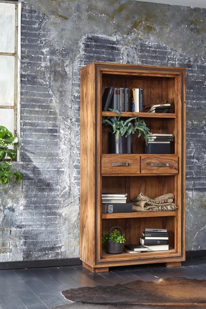GRANDE Sheesham Wood 2 Drawers Bookcase