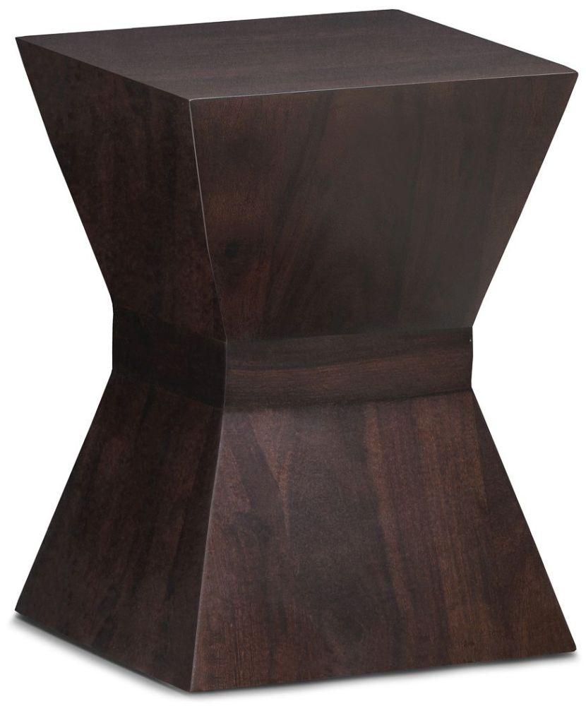 Wood Jali Sheesham Square Lamp Table