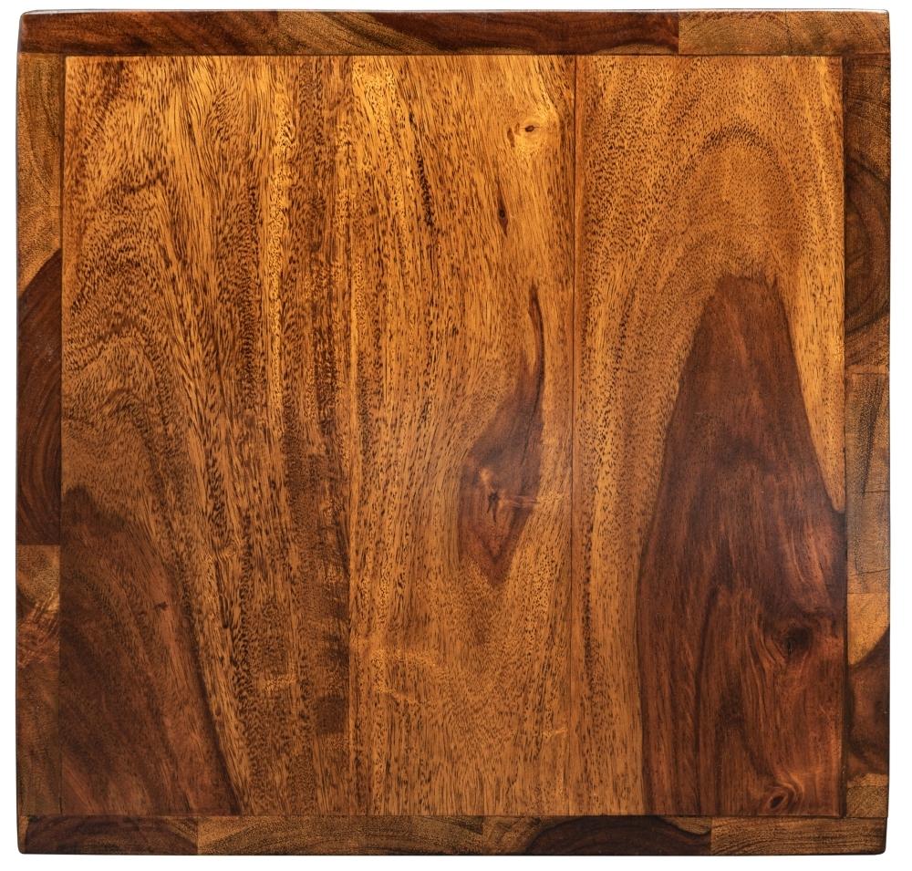 Jali Sheesham Wood Square Lamp Table