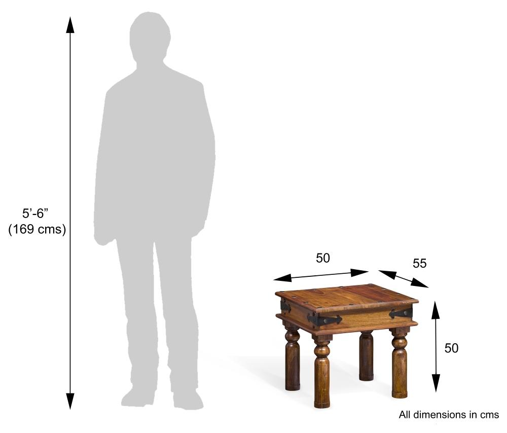 Jali Sheesham Wood Lamp Table